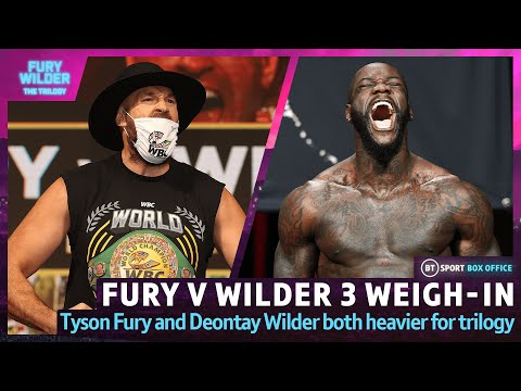 Tyson Fury v Deontay Wilder 3: Weigh-In Live | The Gypsy King And The Bronze Bomber Hit The Scales