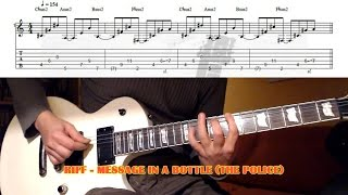 Message In A Bottle RIFF (The Police) GUITAR LESSON with TAB