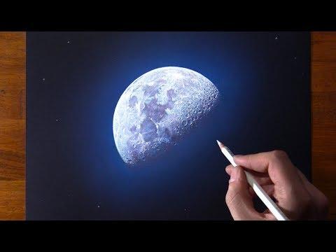 Drawing The Moon 🌗 Moon Landing 50th Anniversary 👨🚀 3D Art