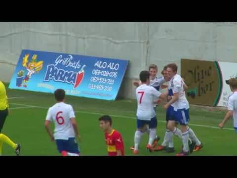 Highlights: Føroyar (2) - Montenegro (1) U-19