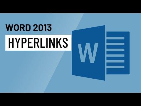 Word 2013: Hyperlinks