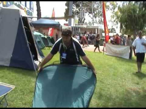 & How to Dissemble an Oztrail Pop Up Ensuite Tent - YouTube