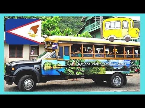 Riding a local bus around AMERICAN SAMOA, PACIFIC OCEAN