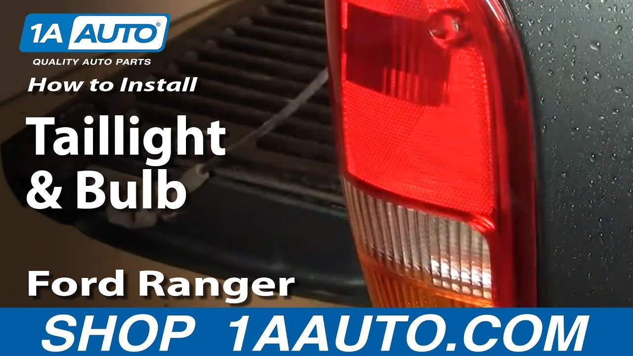 How To Replace Tail Light 93 97 Ford Ranger