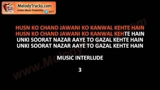 Husn ko chand jawani ko | VIDEO Karaoke | Salim Raza