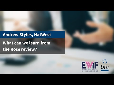 2. What can we learn from the Rose review? with Andrew Styles, NatWest