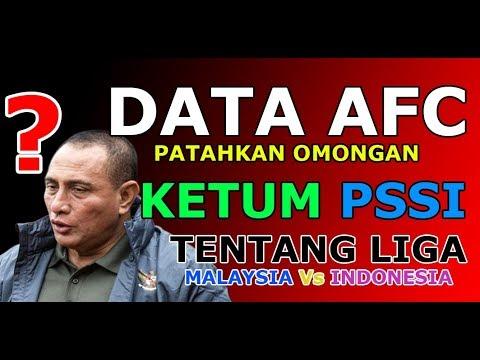 Data AFC Patahkan Omongan Ketum PSSI Mengenai Liga Malaysia | Sport News
