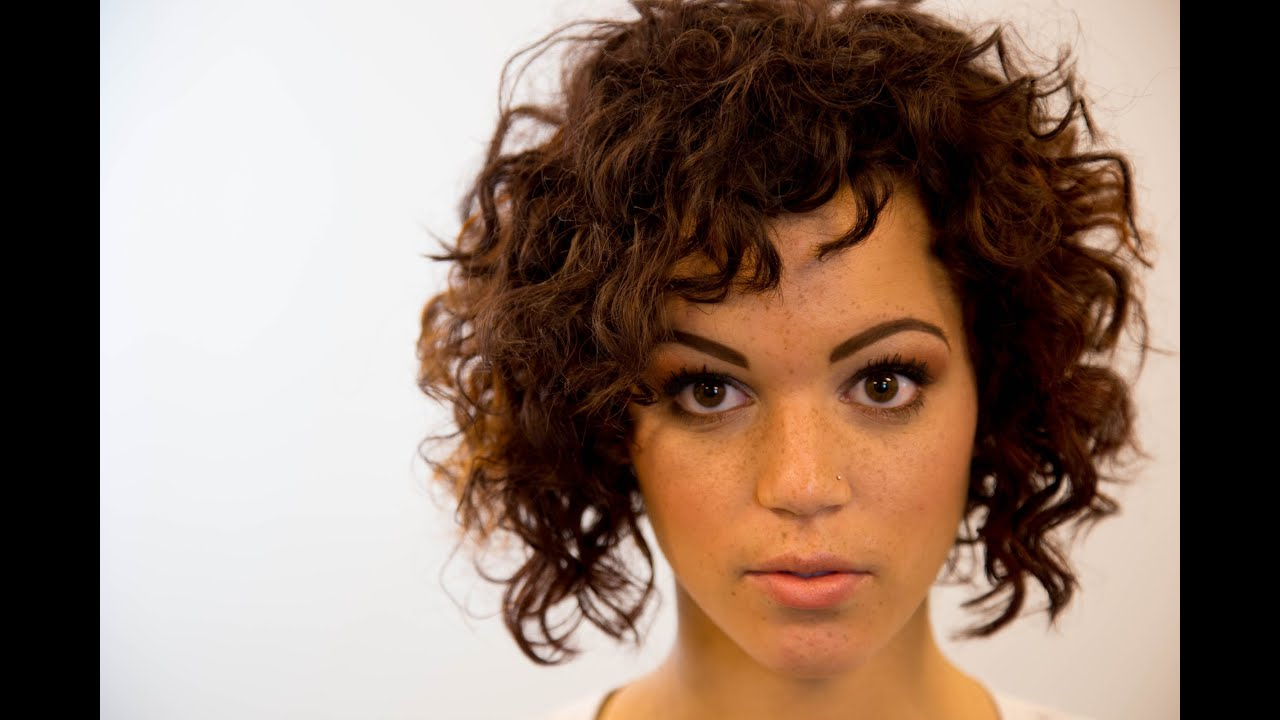 A Line Bob Haircut On Curly Hair