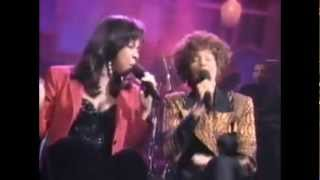 #nowwatching @NatalieCole & Whitney Houston LIVE - Bridge Over Troubled Water