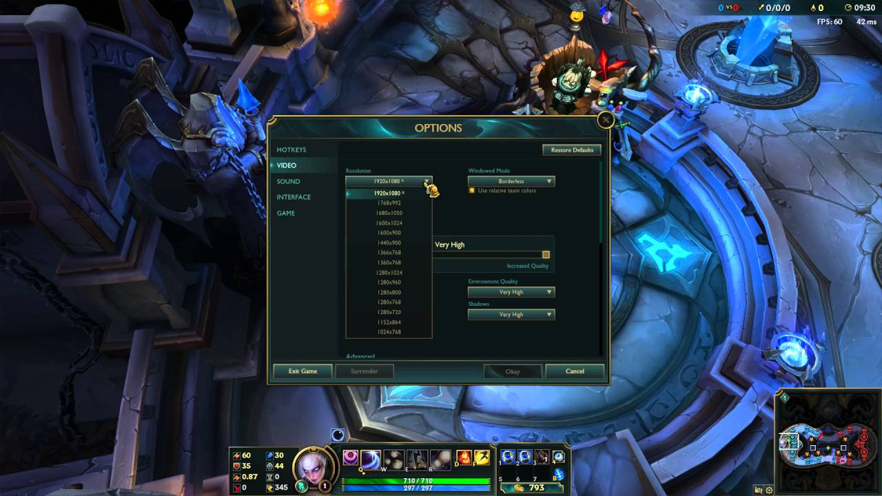 how to change resolution in league of legends - youtube