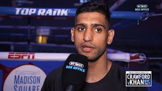 Amir Khan immediate reaction to intense face-off with Terence Crawford and weigh-ins