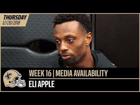 "Eli Apple, ""I feel a lot more comfortable every week"" 