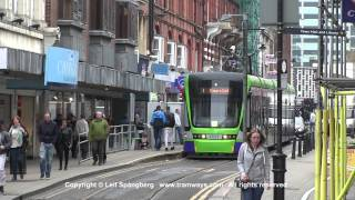 London Tramlink trams at George street, Croydon, London