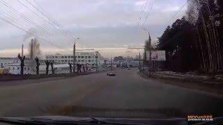 01.04.16 водитель Audi на большой скорости врезался в дерево 2