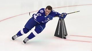 Jonathan Drouin wins Fastest Skater Competition