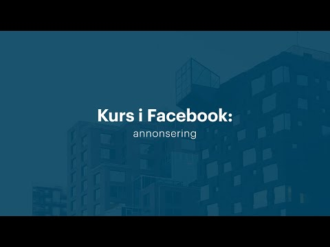 Kurs i Facebook: annonsering (2016) | Utdannet.no
