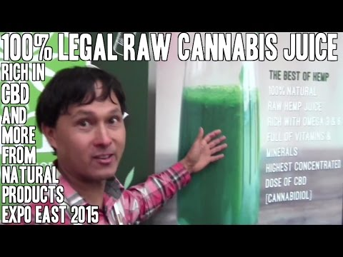 100% Legal Raw Cannabis CBD Rich Green Juice & More from Expo East 2015