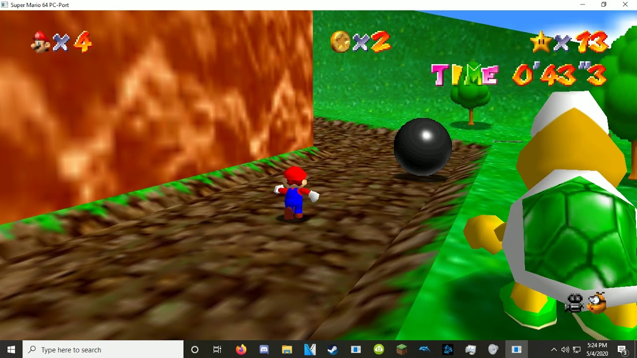 Super Mario 64 Pc Port Gameplay Download Link In Description
