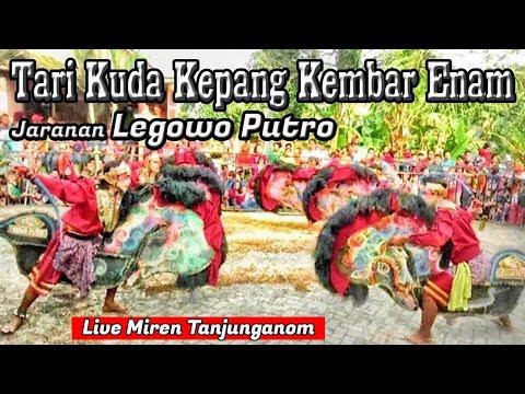 Jaranan Full Ndadi---Tari Kuda Kepang Enam Jaranan Legowo Putro Live Miren Tanjunganom
