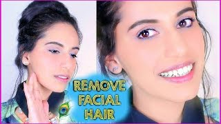 How to Remove FACIAL HAIR Naturally at Home (DIY) with SIMPLE Homemade Mask (DIY) | Fresh Friday