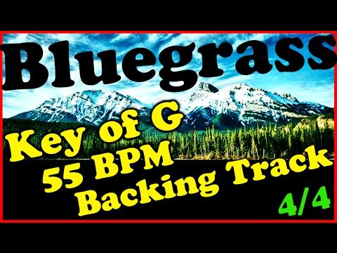 Bluegrass Backing Track in G major - 55 BPM Extended Chords Bluegrass Jam Track