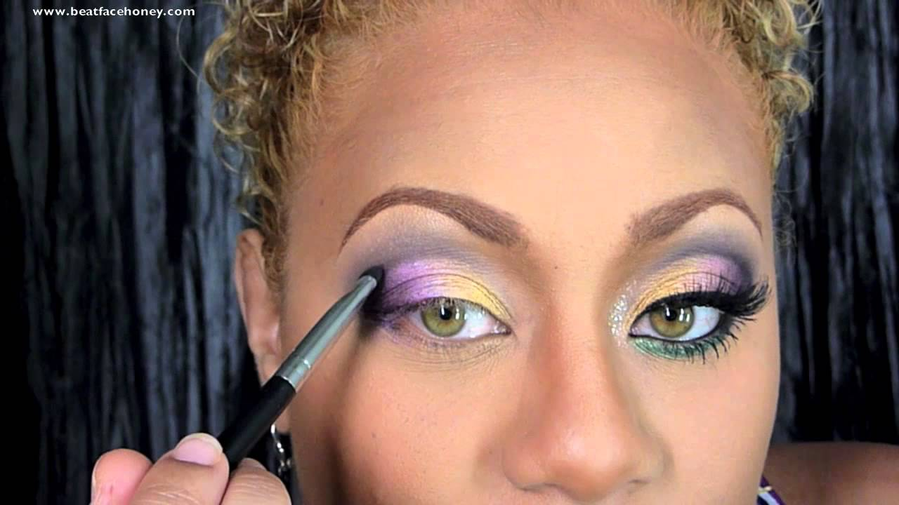 Mardi Gras And Aoedes Hands Inspired Makeup Youtube