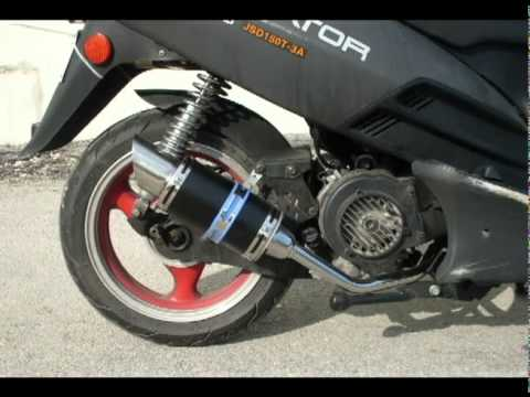 High Performance Exhaust For A GY6 150cc Scooter