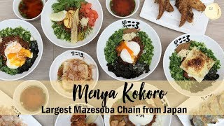 Menya Kokoro - Largest Maze-Soba Chain from Japan Opens In Singapore