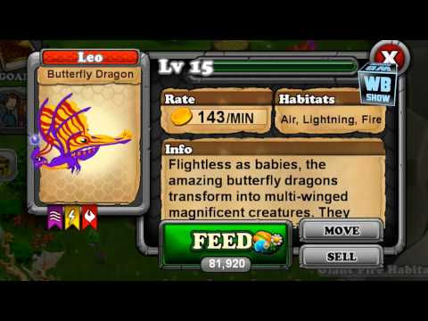 How to breed Butterfly Dragon 100% Real! DragonVale! wbangcaHD! [LIMITED]