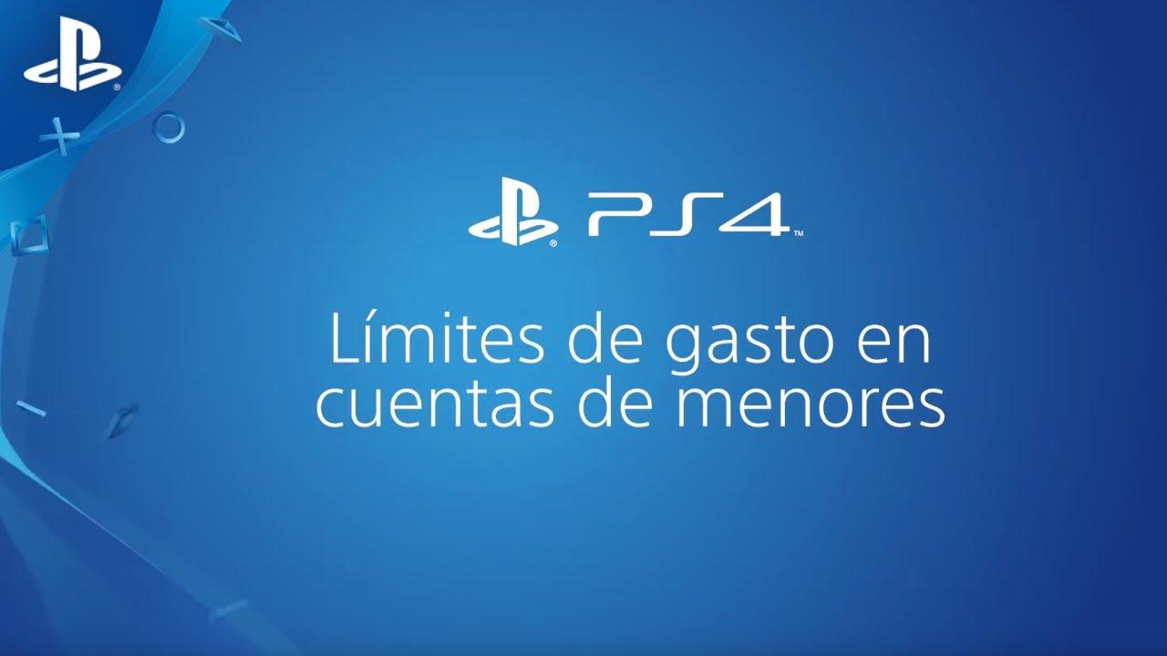 ¿Cómo limitar el gasto de un menor en PS4? | PlayStation España