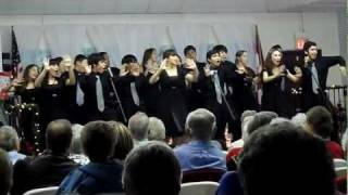 Nikki Rowe Razz-Ma-Tazz Show Choir performs at Paradise Park in McA...