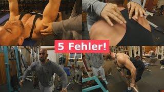 Die 5 HÄUFIGSTEN Fehler im Training!