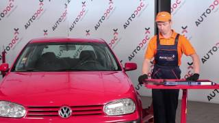 Montering af Viskerblade bag og foran VW GOLF IV (1J1): gratis video