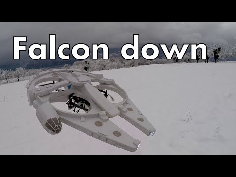 Watch a DIY Millennium Falcon drone take to the skies