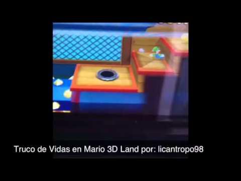 Mario 3D land (truco de vidas)