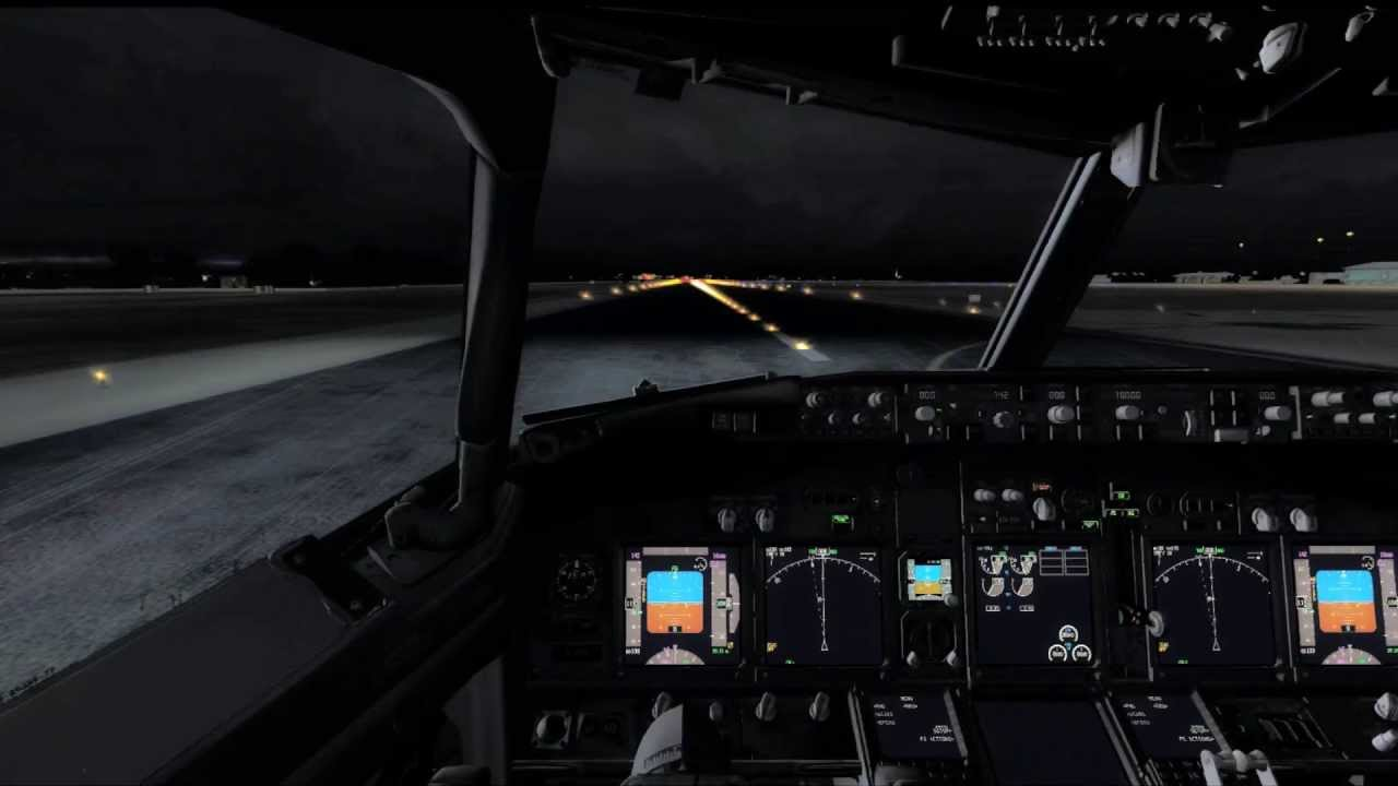 Cockpit Hd Wallpaper Fsx Boeing 737 Ngx Pmdg Cockpit Night Landing Hd Youtube