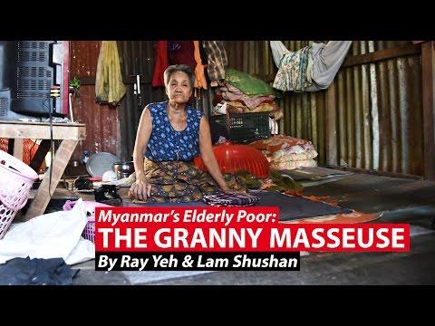 The Granny Masseuse | Myanmar's Elderly Poor | CNA Insider