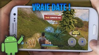LA DATE DE SORTIE DE FORTNITE SUR ANDROID (non officiel)