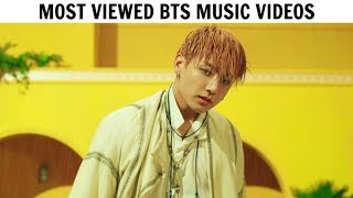 [TOP 35] Most Viewed BTS Music Videos   March 2019