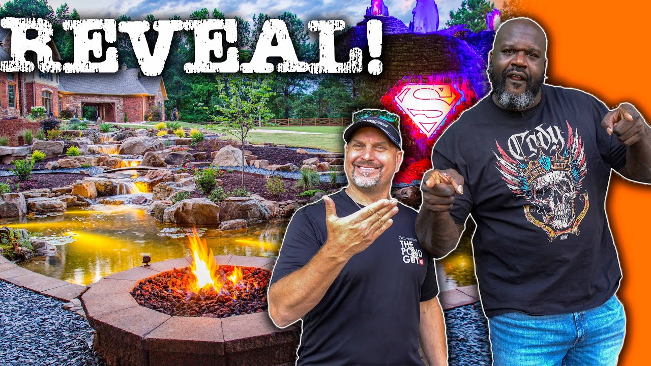 SHAQ's Pond REVEAL! Greg Wittstock the Pond Guy & Fastest Biggest Koi Pond Build in the World ⚡🔥