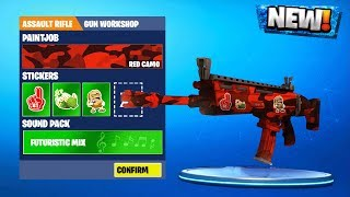 NEW SKIN WORKSHOP in Fortnite SEASON 5! CUSTOMIZE FORTNITE SKINS CAMOS & STICKERS (Skin Concept)