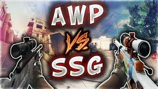 AWP VS SSG EFSANE 360 VURUŞLARI AĞLATTI (CS:GO)