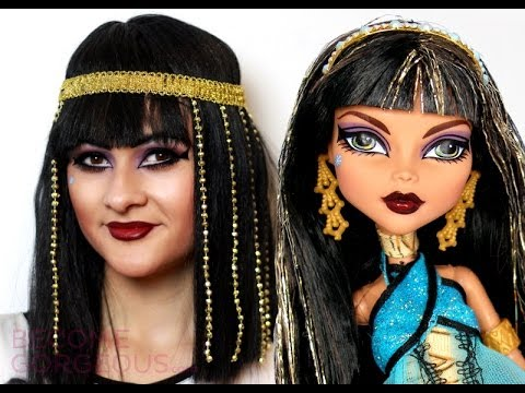 Cleo de Nile Makeup Tutorial Monster High Doll