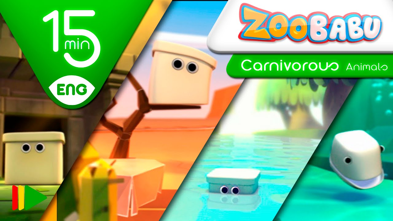 Zoobabu | Collection 11 (Carnivorous Animals) | Full episodes for kids | 15 minutes