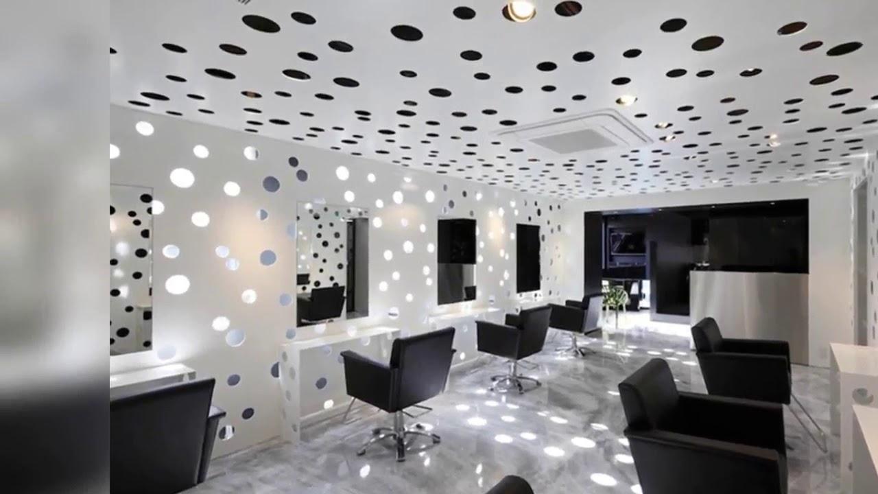 Black and white hair salon decor Wow