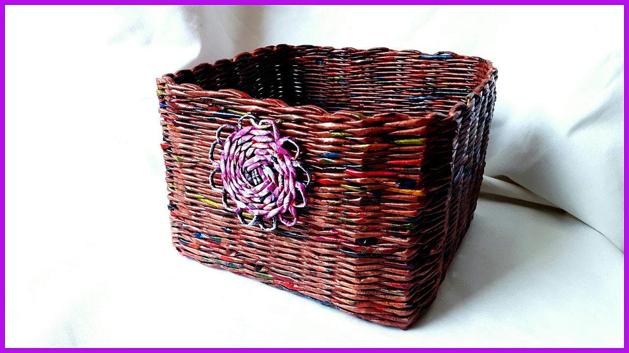 Плетение квадратной корзины для начинающих пошагово 80