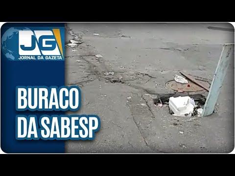 Buraco da Sabesp em rua da zona leste