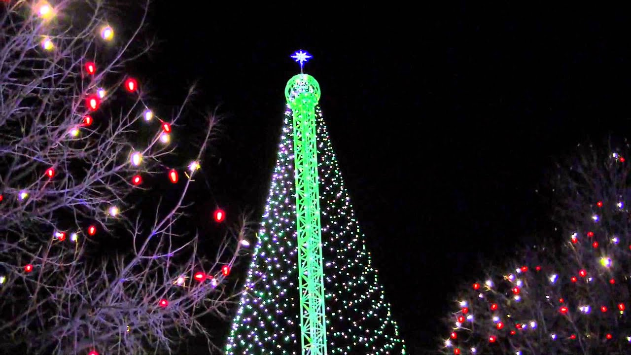Cliff's Magical Christmas 120' Tree - YouTube