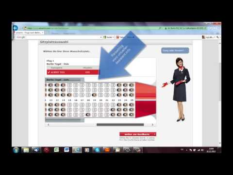 web check in / online check in bei Air Berlin
