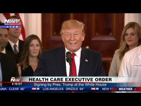 """HEALTH CARE EXECUTIVE ORDER: Pres. Trump aims to provide more """"alternatives"""" to health insurance"""